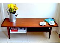 Fantastic Vintage Myer Danish Style Two Tier Teak Coffee Table. Delivery. Modern / Midcentury.