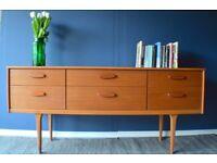 Vintage 'Austinsuite' teak dressing table /drawers/ sideboard. Delivery. Midcentury/ Danish style.