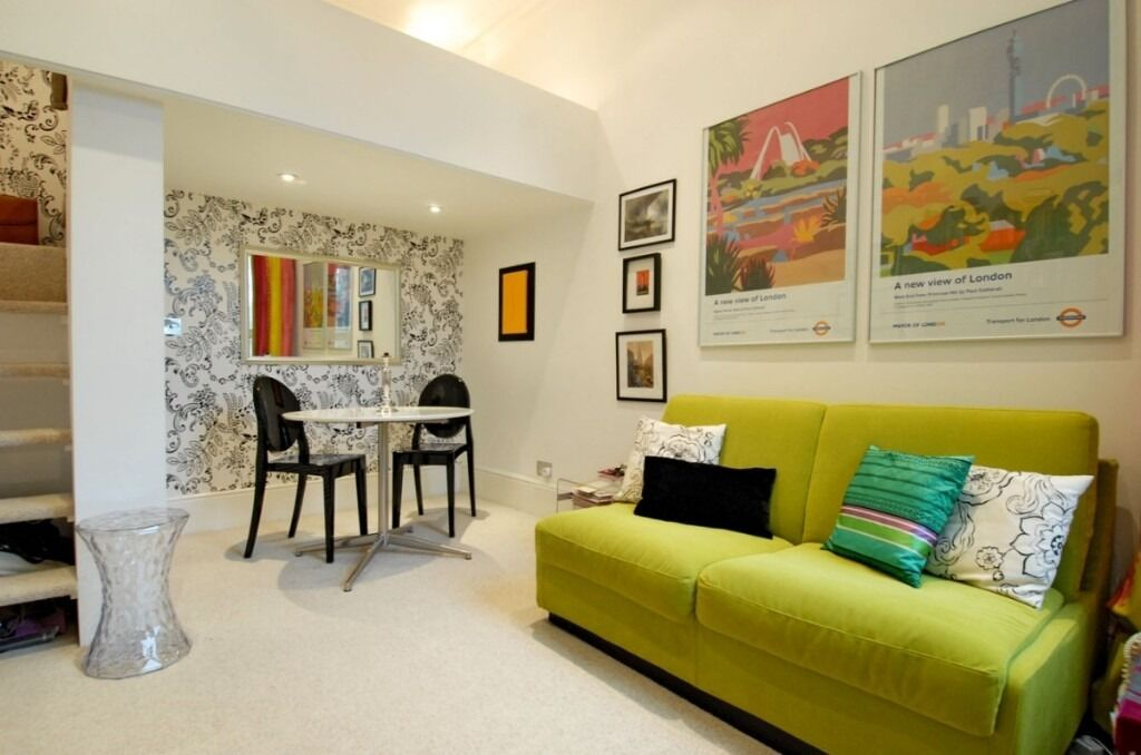 A bright and airy studio flat offering a spacious living area, Ongar Road, SW6