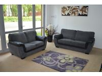 Lana Fabric 3+2 Seater Sofas Brand New Can Deliver and Assemble Sofa