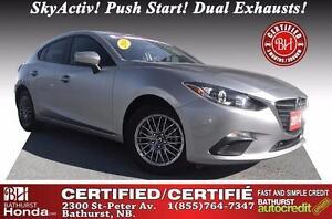 2014 Mazda Mazda3 GX-SKY Certified! SkyActiv! Push Start! Dual E