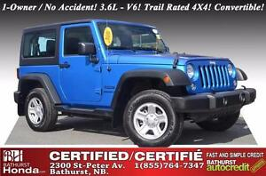 2016 Jeep Wrangler SPORT VERY LOW MILEAGE! Trail Rated! 4X4! V6!