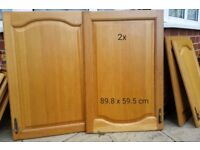 Kitchen solid oak cabinet doors and drawer panels for sale. Doors only!
