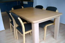 Dining Table & 5 Chairs FREE to collect