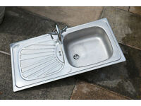 Stainless Steel sink/drainer with chrome taps