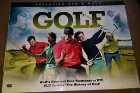 Golf dvd & book set