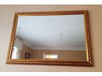 Stylish Gold-Plated Wall Mirror