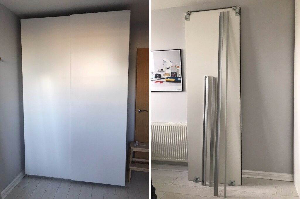 hasvik sliding doors to fit ikea pax wardrobe h236xw150cm in hackney london gumtree. Black Bedroom Furniture Sets. Home Design Ideas
