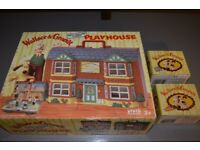 Wallace and Gromit collectors set Contains Wallace and Gromit playhouse and two sets of character