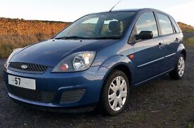 2007 57 ford fiesta 1.25 style, 16v, 5 door, 1 main owner, 12m mot .