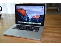 Apple Macbook Pro 15 A1286 2.8Ghz 8GB Ram El Capitan 500Gb HDD