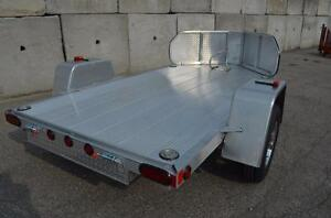 Motorcycle trailers all aluminum Singles and Doubles Aluminum Stone Guards US Built