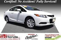 2012 Honda Civic Coupe LX Certified! Awesome Value! No Accident!