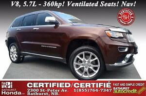2014 Jeep Grand Cherokee Summit Certified! V8, 5.7L - 360hp! Ven