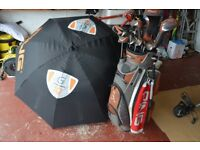 PING G10 GOLF PACKAGE SET/ WOODS,IRONS,PUTTER,BAG ETC - LEFT HANDED