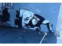Banksy Poster Snorting Cop Street Art A2 Size Paper Laminated Encapsulated Print Graffiti