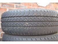 4 x Van Tyre Part Worn Prestivo PV-VN1 225/70/R15C 5-7.5mm Tread