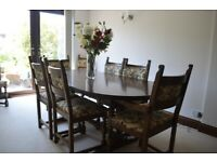 Old Charm Dinning Table and 8 Chairs