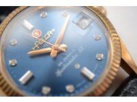 Felca Sportmaster XX automatic mechanical wristwatch - Swiss - Rose gold plated - 25 jewels- Vintage