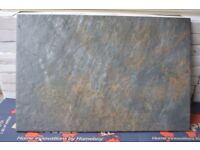 CHARCOAL CERAMIC RIPPLED TILES FOR WALL OR FLOOR JOBLOT 18M2