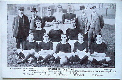 BARNSLEY 1909-10 – F.A. CUP FINALISTS FOOTBALL POSTCARD