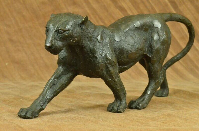 Vintage Bronze Art Deco Cat Sculptures on Plinth after Rembrandt Bugatti Artwork