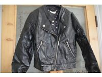 Girls faux leather BIKER JACKET H&M Age 12-14 years