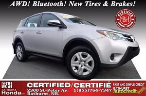 2015 Toyota RAV4 LE Certified! AWD! Bluetooth! New Tires & Brake