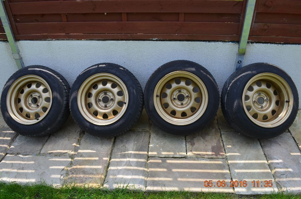 Banded Steel Steels Wheels Bmw E30 Golf Honda 4x100 Caddy Corrado In Bournemouth Dorset