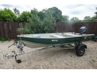 12ft Quicksilver Aluminium boat, road trailer & Yamaha outboard engine