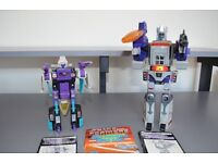 Transformers Galvatron and Snapdragon Generation 1 Action Robots and two Transformers books