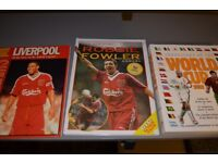 Three Football books: World Cup, Liverpool FC, Robbie Fowler