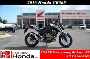 2016 Honda CB500F Take the road less traveled!!