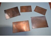 "Antique Copper Victorian / Edwardian ""at home"" engraving plates."