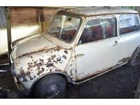 Austin Mini 1963 850 for restoration
