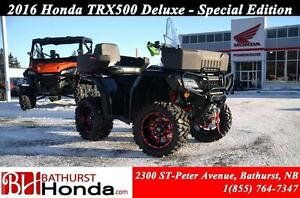 2016 Honda TRX500 Rubicon Deluxe RED MAG WHEELS! Independant Rea