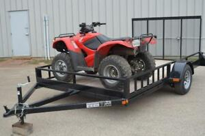 New Side Load Double ATV Trailer! Ontario Made Utility Trailers - 5 Year Structural Warranty, Best Price on the Market!
