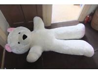 Large White Teddy Bear 5 foot 4 inches tall
