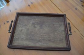 Old wooden serving tray. Believe it could be about 1910's - 1920's