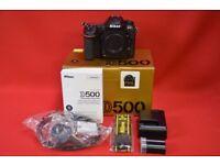 Nikon D500 Camera Body Boxed £1300
