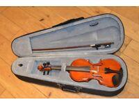 1/4 Sized Violin. Gear4music Deluxe model