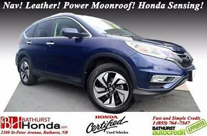 2015 Honda CR-V Touring Honda Certified! Nav! Leather! Power Moo