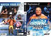 WWE Here comes the pain playstation 2 game for £5
