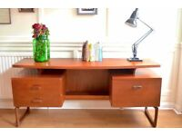 Fantastic Vintage G Plan floating top teak desk. Delivery. Modern / Mid-century / Danish style.