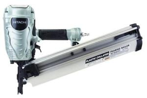 NEW Hitachi NR90AES1 2-Inch to 3-1/2-Inch Plastic Collated Framing Nailer