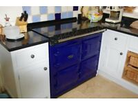Aga 6 4 Electric Range Cooker - Aga Blue ( 6 redrings 4 ovens) All Electric