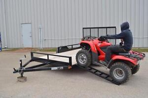 Double ATV Trailer 7X12 , Side Load one Rear load the other, ,Ontario Built