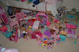 Massive Barbie bundle inc houses, plane, cars, dolls, clothes and much more