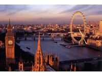2 flight tickets, Los Angeles- London, 10 Jun