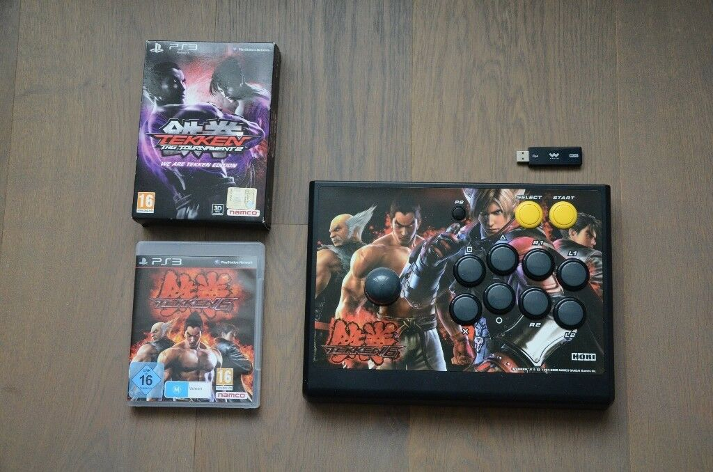 Hori Tekken Fight Stick Controller Playstation 3 with games (Tekken 6, Tekken Tag Tournament 2)